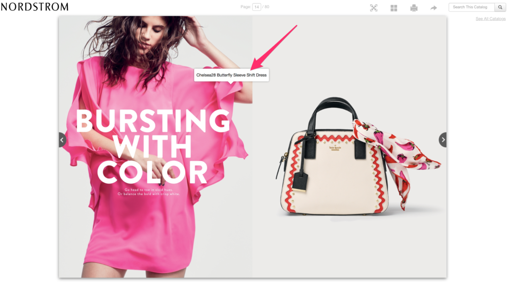 Nordstrom's digital catalog